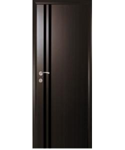 Межкомнатные двери «Новый Стиль» Вита с черным стеклом коллекция Квадра