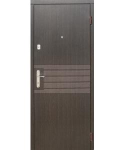 Входная Дверь Эконом Венге темный и светлый