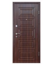Дверь Входная модель М-2 орех темный (МДФ/МДФ)   ТМ Медведь