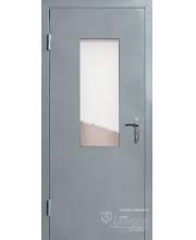 Дверь входная противопожарная со стеклом в подьезд