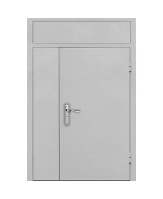 Дверь металлическая в тамбур с фрамугой