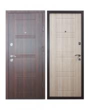 Входная дверь Модель: ДМ-3 орех темный/дуб беленый  ТМ Медведь