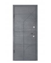 Дверь Входная модель М-2Дуб Грифель Горизонт (МДФ/МДФ)   ТМ Медведь